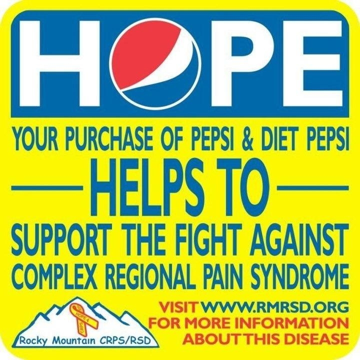 Thank U PEPSI For Ur Support CRPS. For Now These HOPE