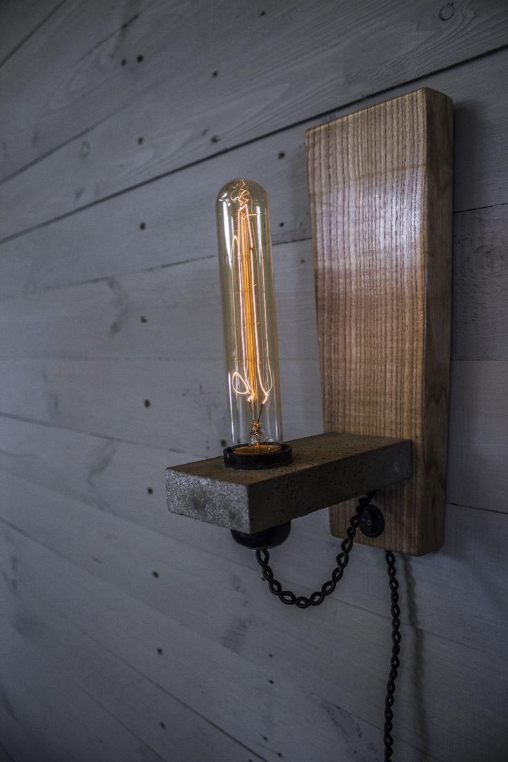 Светильники в стиле Loft из дерева и бетона | Конструкторское бюро Cherdakoff