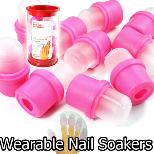 WANT!!!   Wearable Nail Art Reusable Soaker Polish Remover