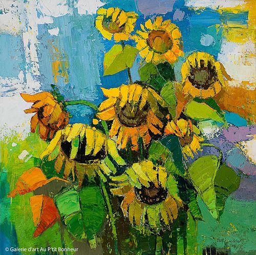 Iosif Derecichei, 'Long Summer Day', 36'' x 36'' | Galerie d'art - Au P'tit Bonheur - Art Gallery