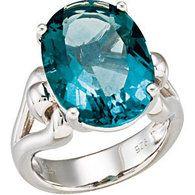 Sterling Silver  Genuine Fluorite Ring