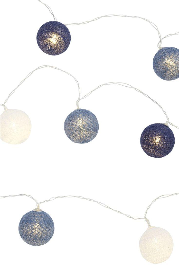 10 LED Blue White String Lights