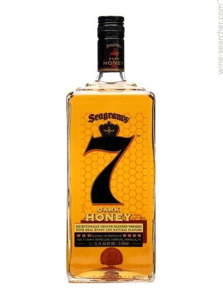 Seagram's 7 Crown 'Dark Honey' Whiskey! Found this tonight :D Super happy about it, although I'm cutting wayyy back on the libations.