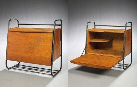 jacques hitier secr taire mural 1952 storage. Black Bedroom Furniture Sets. Home Design Ideas