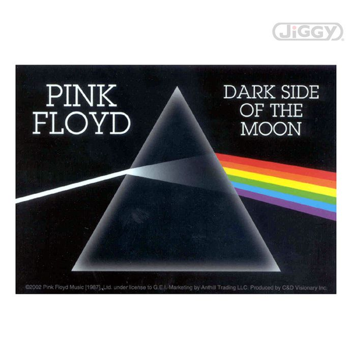 "JiGGy.Com - Pink Floyd - Dark Side of The Moon Decal Decal with artwork from Pink Floyd's album, ""Dark Side of The Moon."" Measures 3.5"" x 5""."