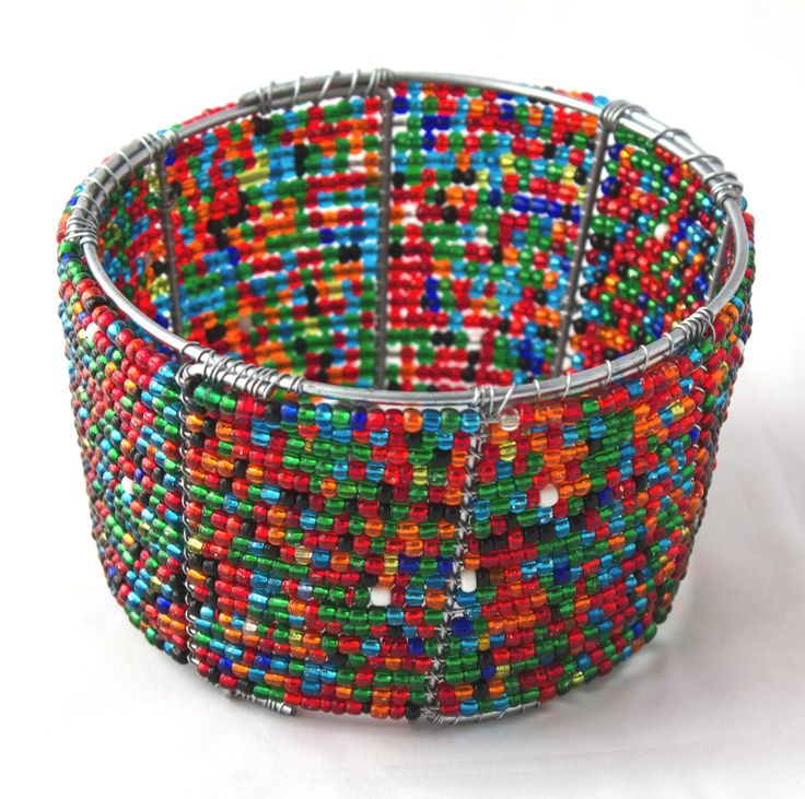 Wire beaded bowl from Africa. Can be used for many functions eg. sweets or other goodies. At home can be used for cell phone or keys at the front door. Available in any size or color. www.stribal.com
