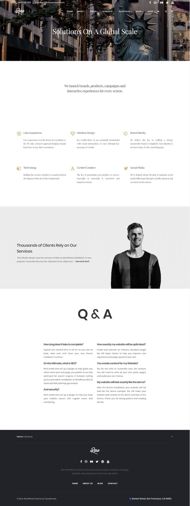 Build any site design without code knowledge and build it beauty - Rare ultimate smart WordPress theme - clean, modern, stylish, minimalist and multi-purpose template  https://visualmodo.com/theme/rare-wordpress-theme/ #webdesign #HTML5 #CSS3 #template #plugins #themes #WordPress #onepage #ecommerce #responsive #retina #marketing #website #blog #bootstrap #magazine #slider #business #siteBuilder #creative