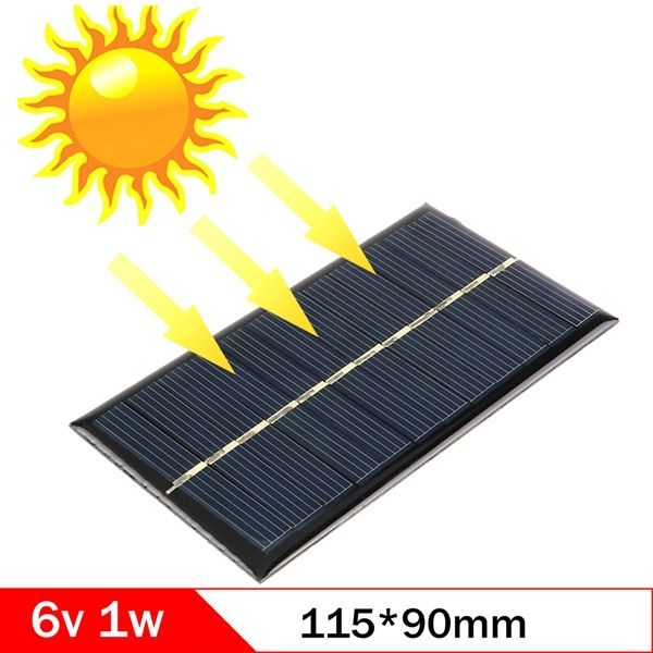 6v 1w 110 60mm Micro Polycrystalline Solar Cell Panel Module For Diy Solar Light Phone Battery Toy Flashlight Solar Panel Charger Diy Solar Panel Solar Panels