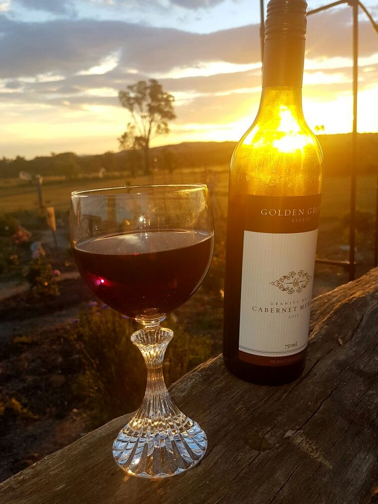 Granite belt sunsets are amazing, with wine now thats better!