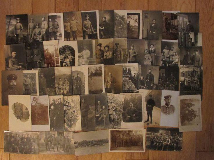 LOT DE 50 CARTES PHOTOS - MILITAIRES ALLEMANDS - CERTAINS REGIMENTS NOTES - CPA
