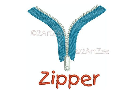 Embroidery Alphabet Letter Z for Zipper by 2artzee on Etsy