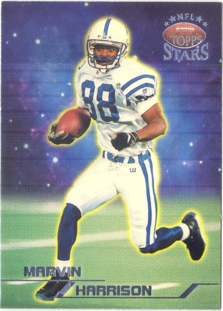 1998 Topps Stars Silver #79 Indianapolis Colts Marvin Harrison 0688/3999