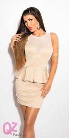 Qz Fashion Elegáns ruhák 0000IN50150 BÉZS