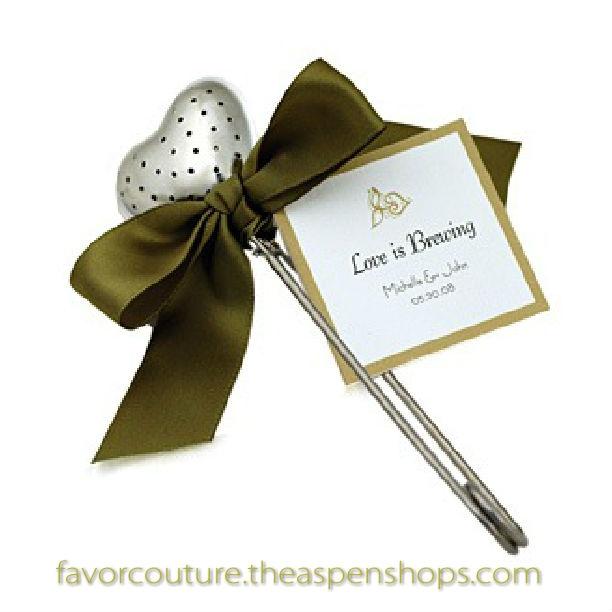 Trendy Tea Themed Favors Wedding Time Heart Infuser In Elegant