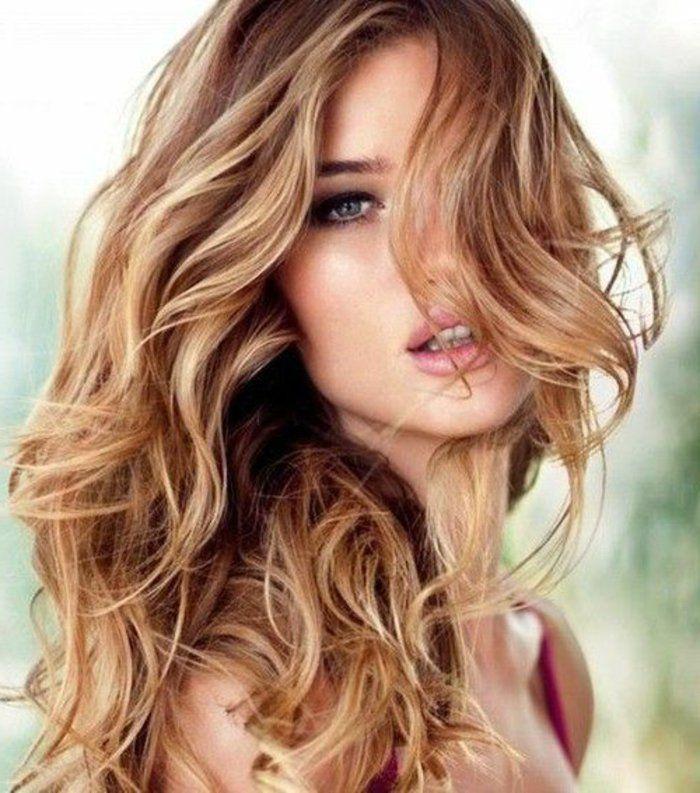 filles modernes cheveux blonde couleur cheveux tendance 2017 coiffures marron avec des reflets blonds tranes blondes cheveux bruns avec blonds - Coloration Reflet Blond