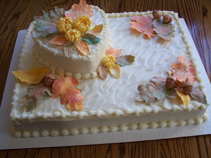 Fall bridal shower ideas cake decorating ideas project for Fall cake ideas