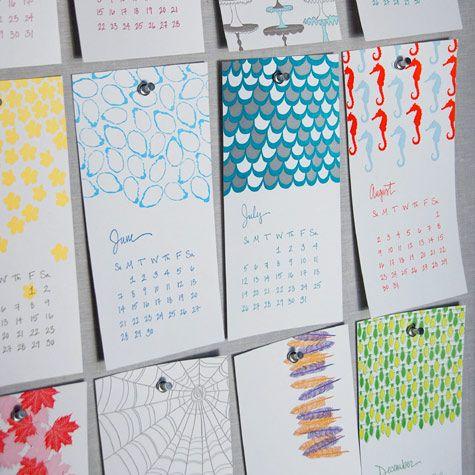 another cool calendar design