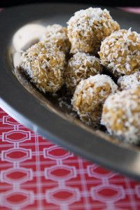 No Bake Peanut Butter Balls With Coconut and Rice Cereal - One Thing Nice