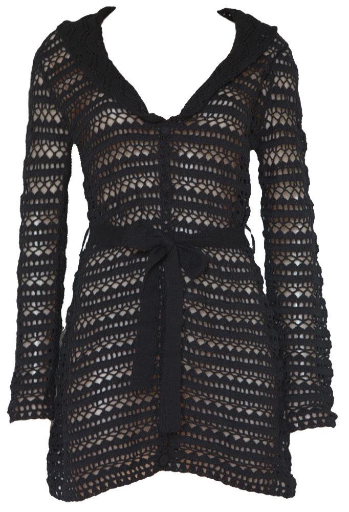 $121 NU Long Crochet Cardigan