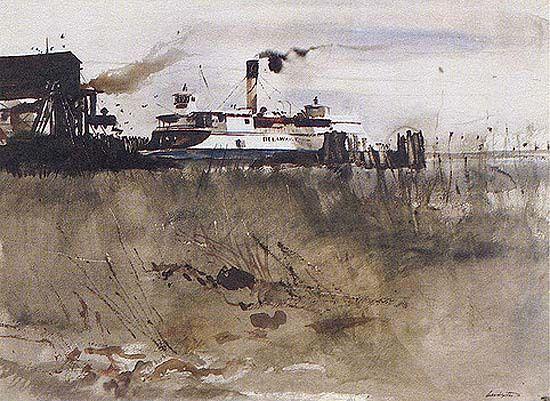 Andrew Wyeth - Newcastle ferry