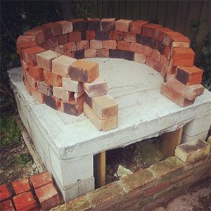 Step by step instructions for a DIY Pizza oven