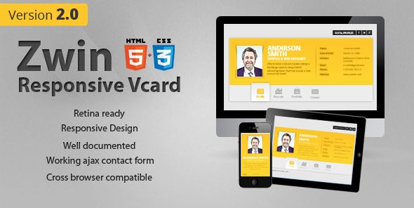 20 amazing personal html Vcard Templates you should buy - Designmain.com