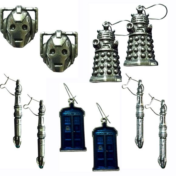 Doctor Who – English Pewter Studs & Earrings