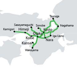Kansai Area map