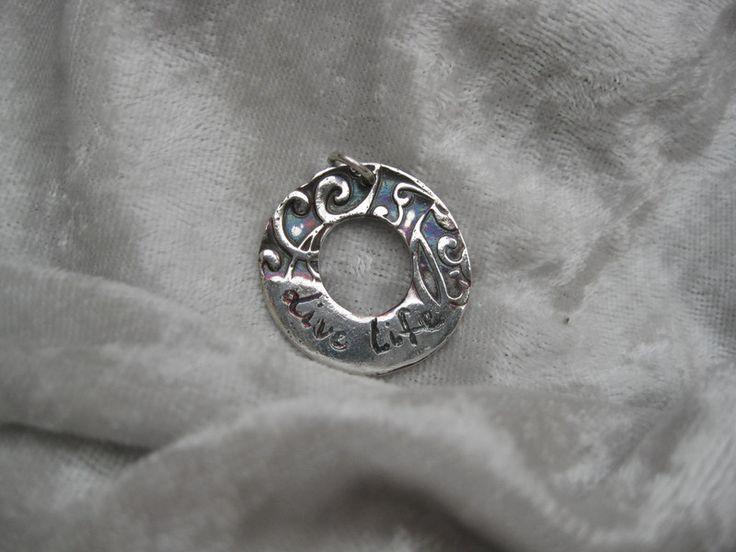 """Silberanhänger - Silber-Amulett """"Live Life""""  999 Silber Unikat  - ein Designerstück von Ringfreak bei DaWanda"""