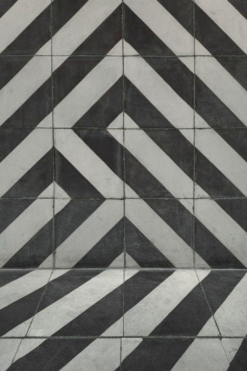 graphic tile work.. striking + inspiring    #blackandwhite
