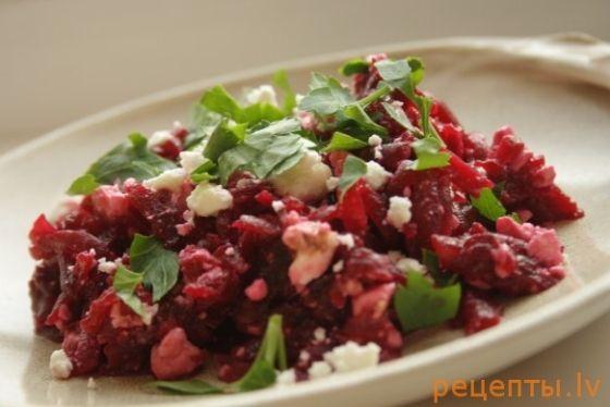 Свекольный салат с фетой от Джейми Оливера :: Freecity.lv