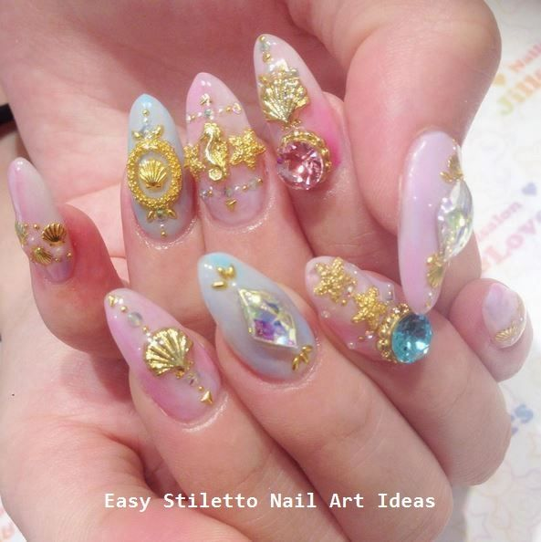 30 große Stiletto Nail Art Design-Ideen #nail #nailart – Creative Stiletto Nails Designs