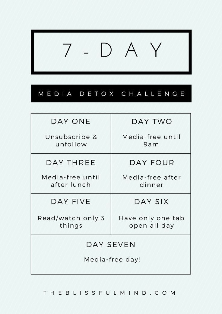 Join the 7-Day #MediaDetoxChallenge and get more selective about the information…