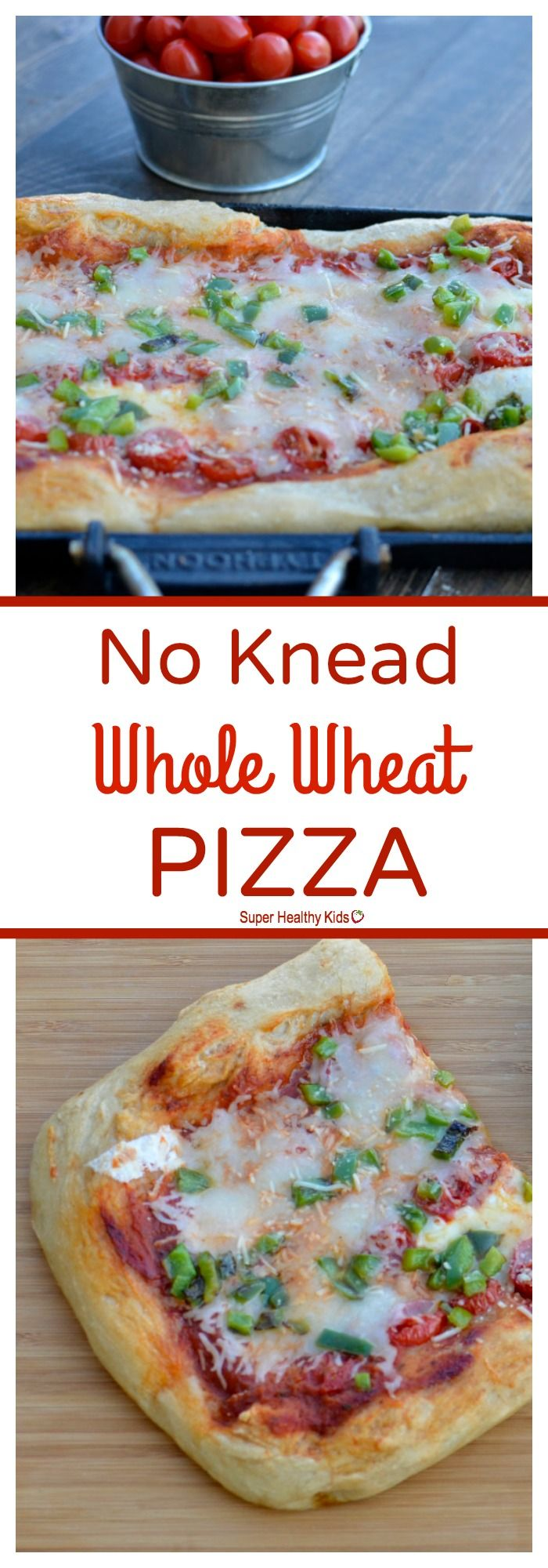 No Knead Whole Wheat Pizza Recipe | Healthy Ideas for Kids