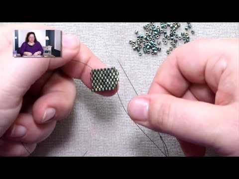 Stitches: Peyote Decreases on the Outside of a Row - YouTube