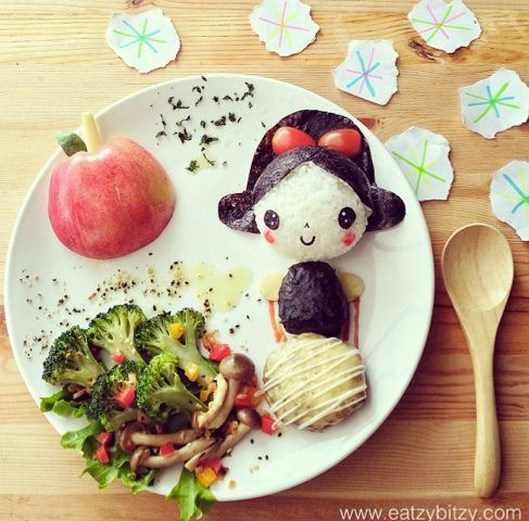 Astonishing Lunch Ideas For Kids At Home. Samantha Lee creates amazing works out of food for her two daughters paying  tribute to Snow White international landmarks and cartoon characters 386 best Edible Food Art images on Pinterest Creative