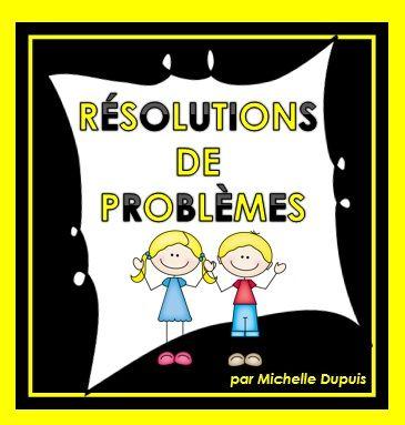 40 résolutions de problèmes pour les élèves de 1re et 2e années.