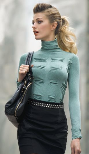 49.95  Trapped turtleneck shirt, 120 den one size fits most