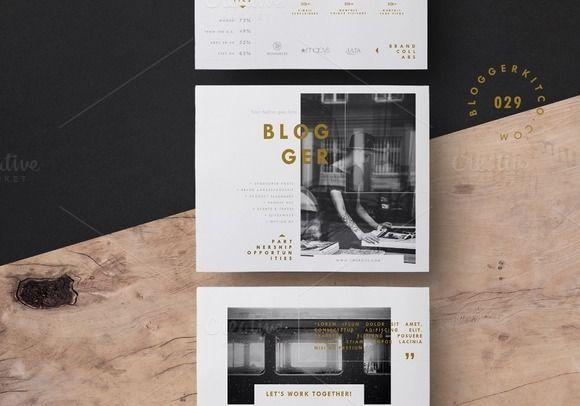 Blog Media Kit + Sponsorship   5 Pgs by Blogger Kit Co. on @creativemarket