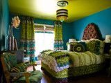 Turquoise and Chartreuse Green Tween Bedroom! Ashley Taylor Home
