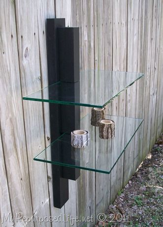modern shelf glass