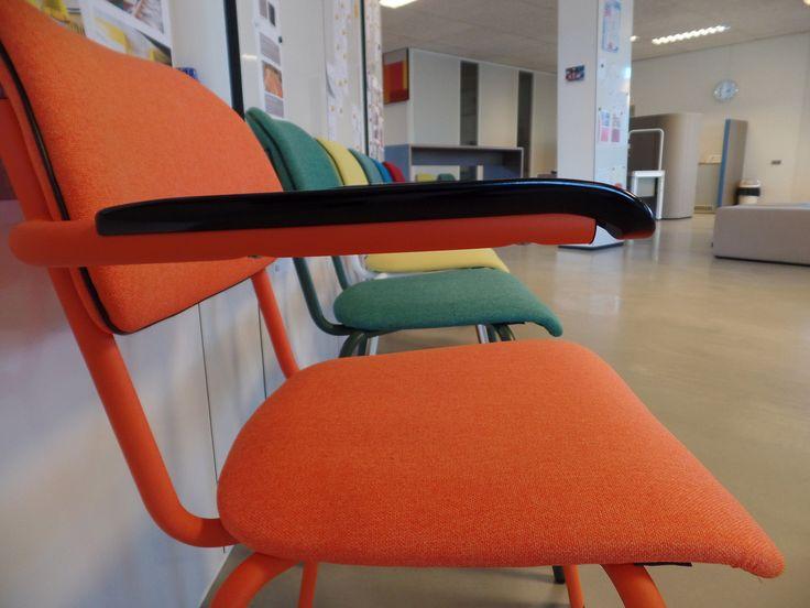 Jami chair 4 legs, Lande, chairs in bright colours  Jami 2017 • Designer: Toine van den Heuvel  • © Lande • Photo: Martijn Verhoeven