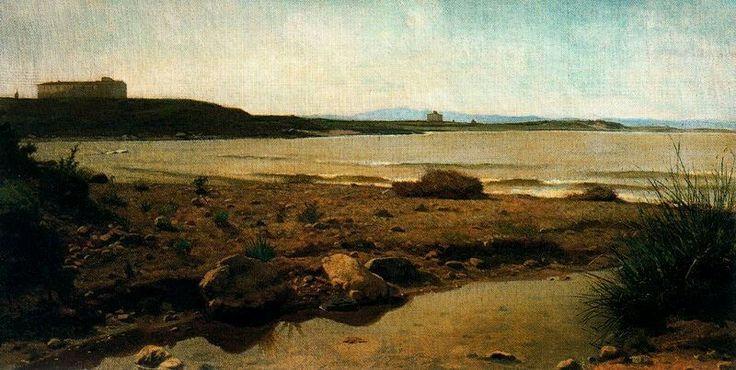Giuseppe Abbati(1836–1868)  Marina a Castiglioncello  Date1863Mediumoil on canvasDimensions35 x 68 cmCurrent locationPrivate collection