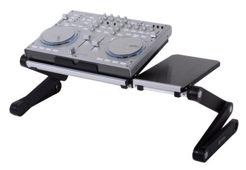 Pwr+ FlexTop Dj Laptop Stand Table Desk Tray for Dj Mixer Controller Turntable Amplifier Karaoke Machine Cd Mp3 Midi Player - Split Surface - Adjustable-angle Legs - Black PWR+ http://www.amazon.com/dp/B00EWPXUZG/ref=cm_sw_r_pi_dp_FWE3vb0VW67WJ