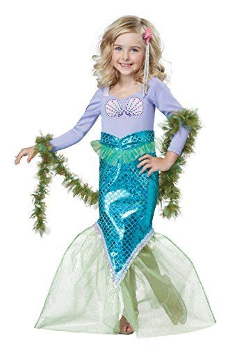 California Costumes Magical Mermaid Costume, Multi, Toddler (4-6)