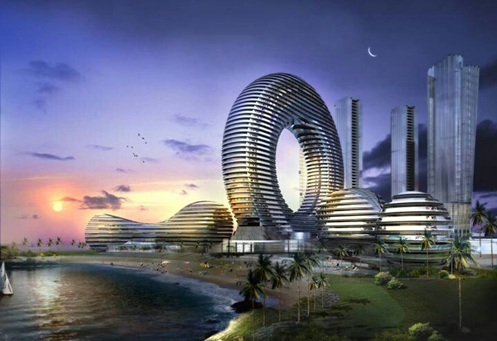 Futuristic building concept in dubai building concepts for Concept building