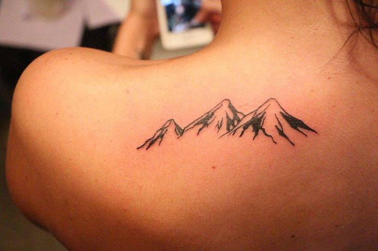 mountain outline tattoo - Google Search
