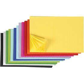 #Honingraat #papier, vel 28x17,8 cm, 72assorti