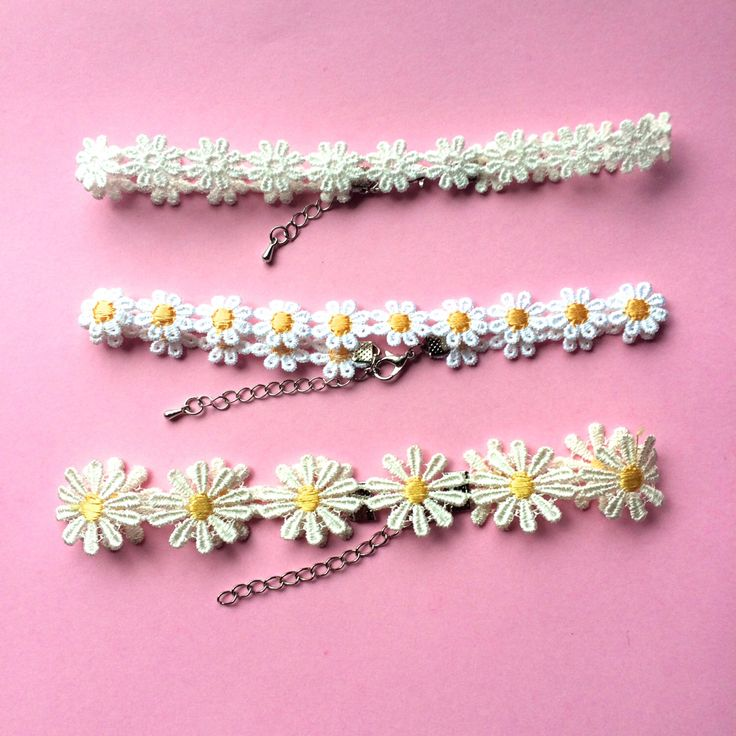 VTG 90's Daisy Chokers by PenelopeMeatloaf on Etsy https://www.etsy.com/listing/124159619/vtg-90s-daisy-chokers