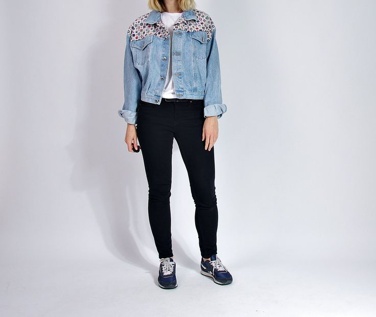 80s Fuego Denim Printed Yoke Trucker Jacket Made in Greece / Size M/L by Only1Copy on Etsy